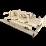 2U Fiber optic rackmount enclosure by century fiber optics
