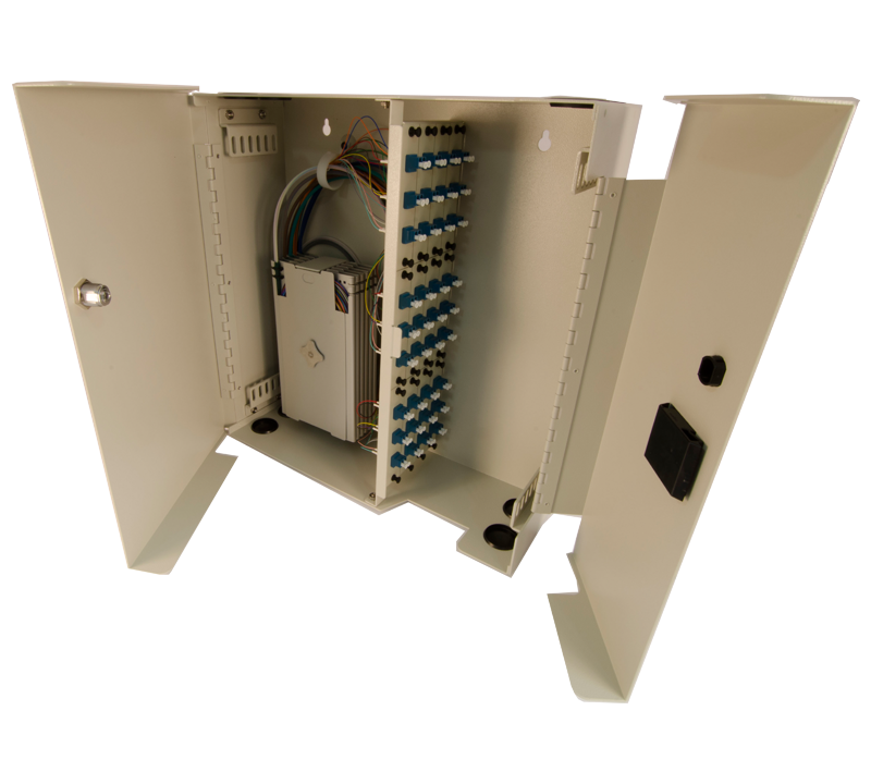 Century FIber Optic FCL-72 splice and term wall mount enclosure